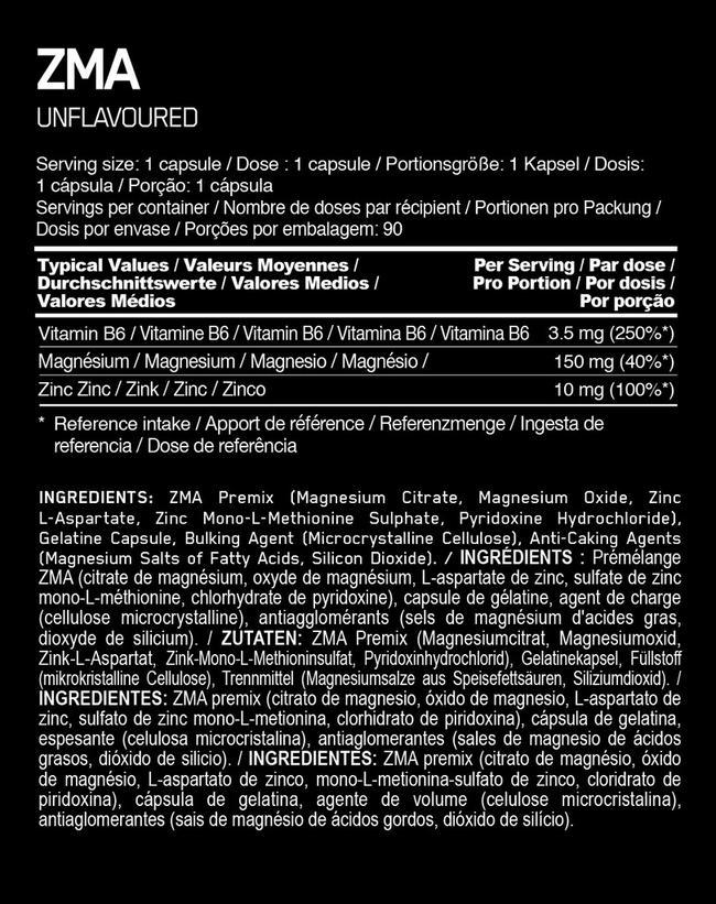 ZMA Elite Nutritional Information 1