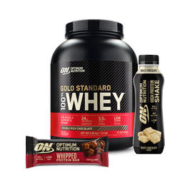 Gold Standard Whey + Optimum Protein RTD Shake + Whipped Protein Bar Bundle