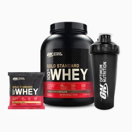 Gold Standard 100% Whey (2270 g) + Shaker + Sachet