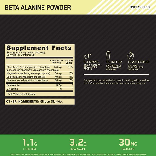 BETA-ALANINE POWDER Nutritional Information 1