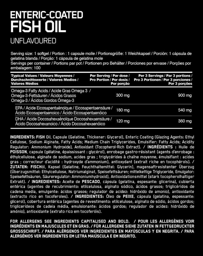 Enteric-coated Fish Oil Nutritional Information 1