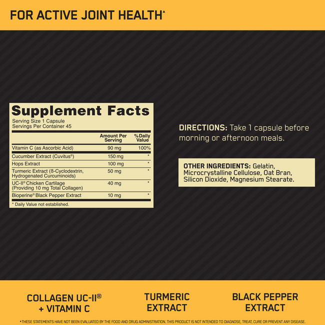 GOLD STANDARD FIT 40 ACTIVE JOINT HEALTH Nutritional Information 1