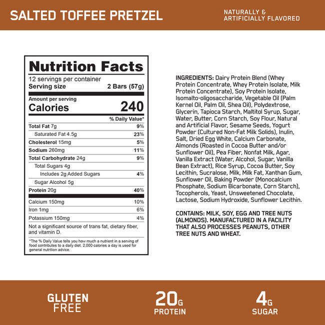 PROTEIN CRISP Nutritional Information 1